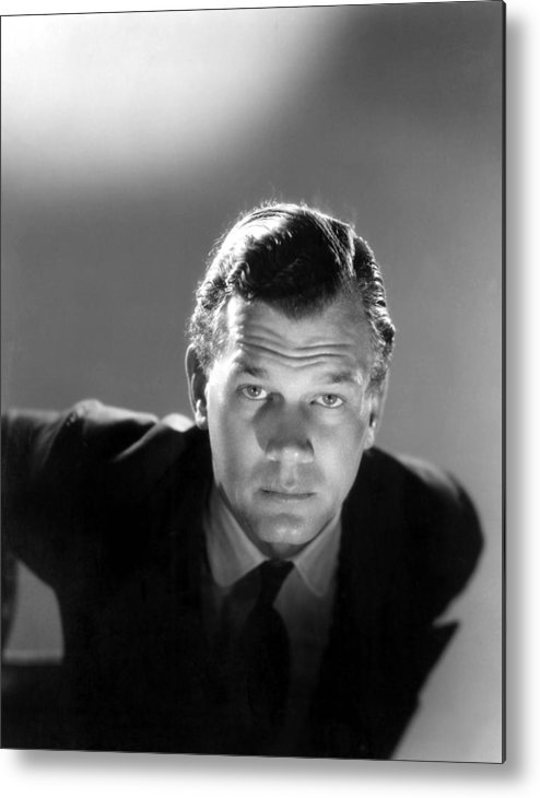 1940s Portraits Metal Print featuring the photograph Shadow Of A Doubt, Joseph Cotten, 1943 by Everett