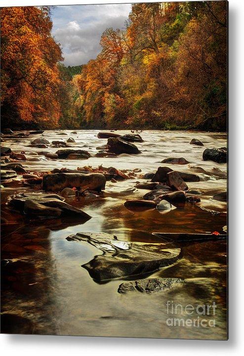 Fall Metal Print featuring the photograph The Fall On The River Avon by John Farnan