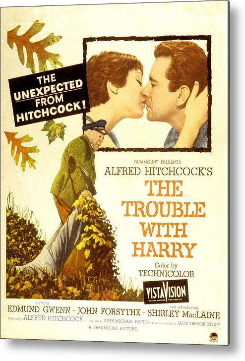 1950s Poster Art Metal Print featuring the photograph The Trouble With Harry, Shirley by Everett