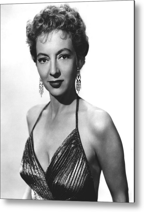 1950s Portraits Metal Print featuring the photograph Top Of The World, Evelyn Keyes, 1955 by Everett