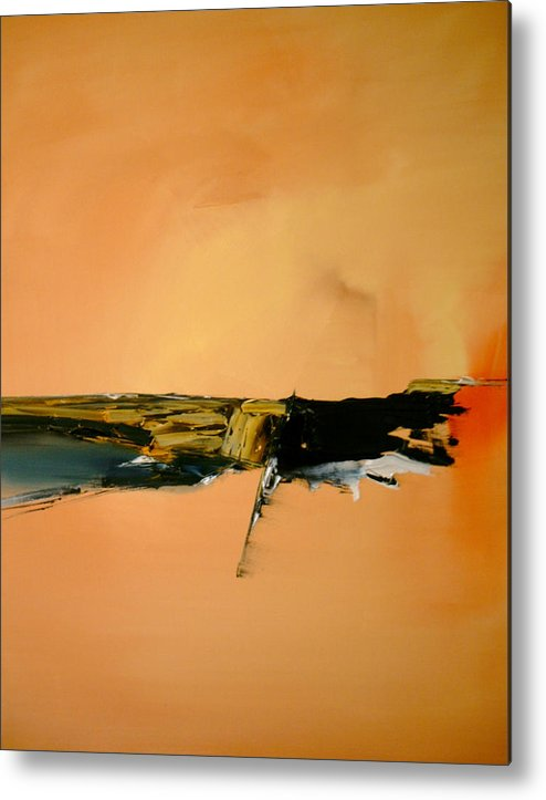 Abstract Metal Print featuring the painting A Manifestation Of Full Splendor by Stefan Fiedorowicz