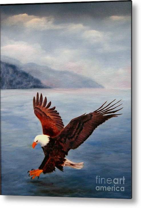 Eagle Metal Print featuring the painting Free by Jerry Walker