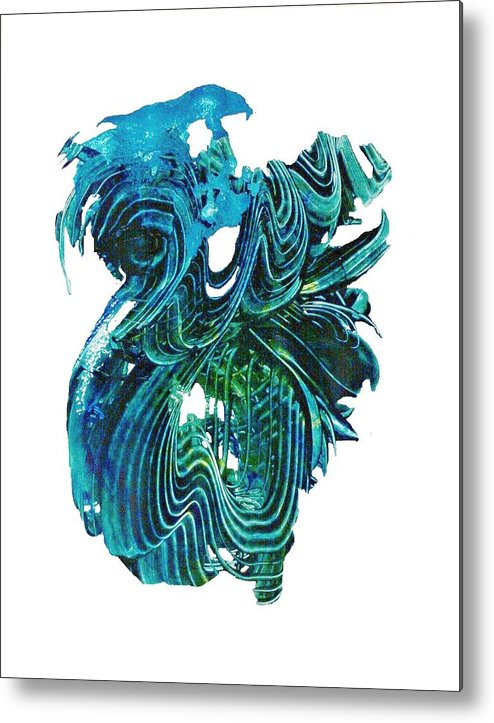 Contemporary Metal Print featuring the mixed media G-2 by John Pate