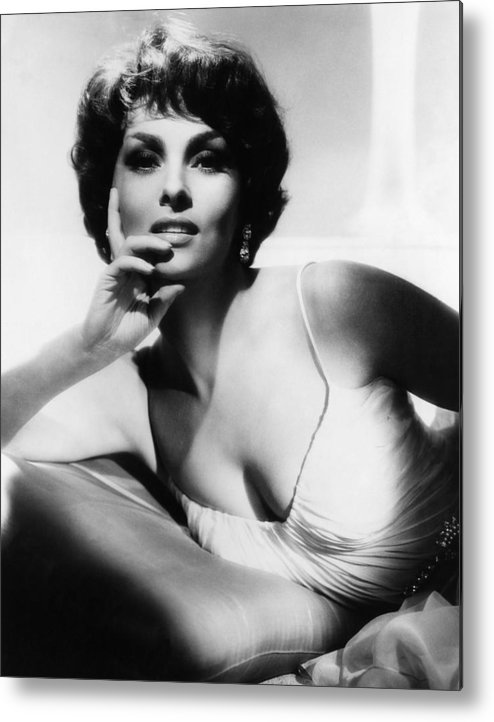 1960s Portraits Metal Print featuring the photograph Gina Lollobrigida, Ca. Early 1960s by Everett