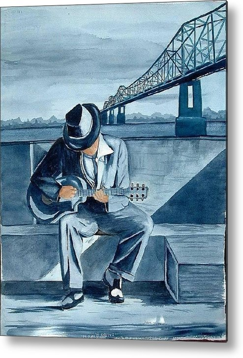 Blues Metal Print featuring the painting Helena Blues by Diane Ziemski