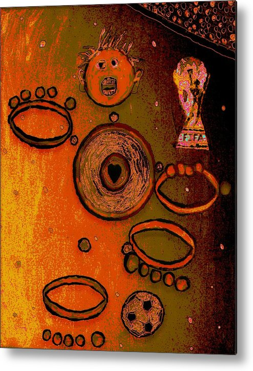 Metal Print featuring the mixed media Abstract by Jason Gauvreau
