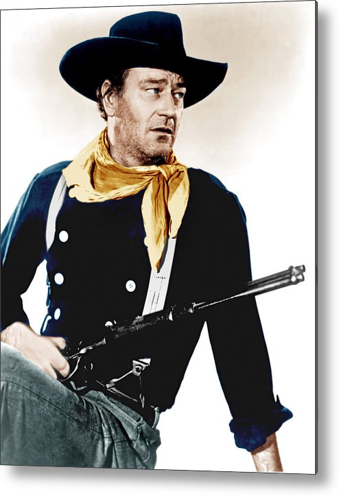 1950s Portraits Metal Print featuring the photograph The Searchers, John Wayne, 1956 by Everett