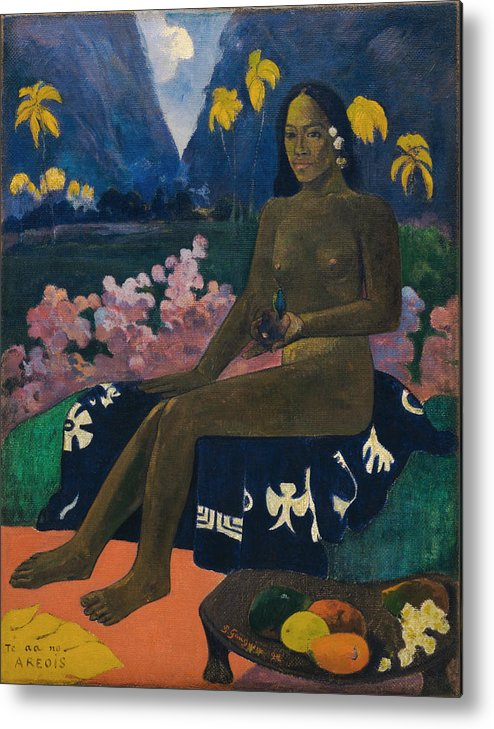 Paul Gauguin Metal Print featuring the painting The Seed Of The Areoi by Paul Gauguin
