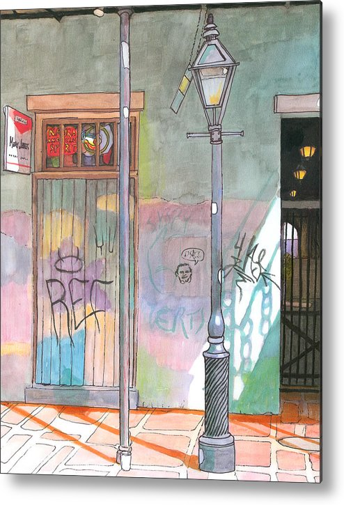New Orleans Metal Print featuring the painting 30 French Quarter Graffiti by John Boles