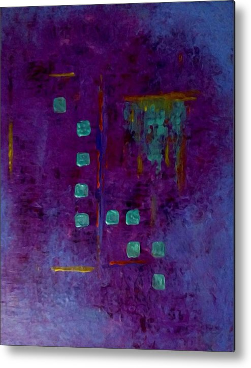 Abstract Metal Print featuring the painting Abstract by Anna Lee De Llano