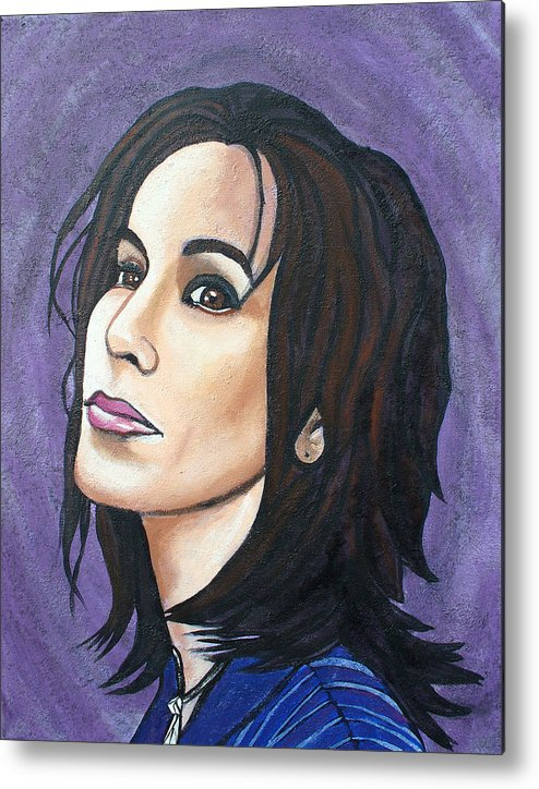 Alanis Morissette Metal Print featuring the painting Alanis by Sarah Crumpler
