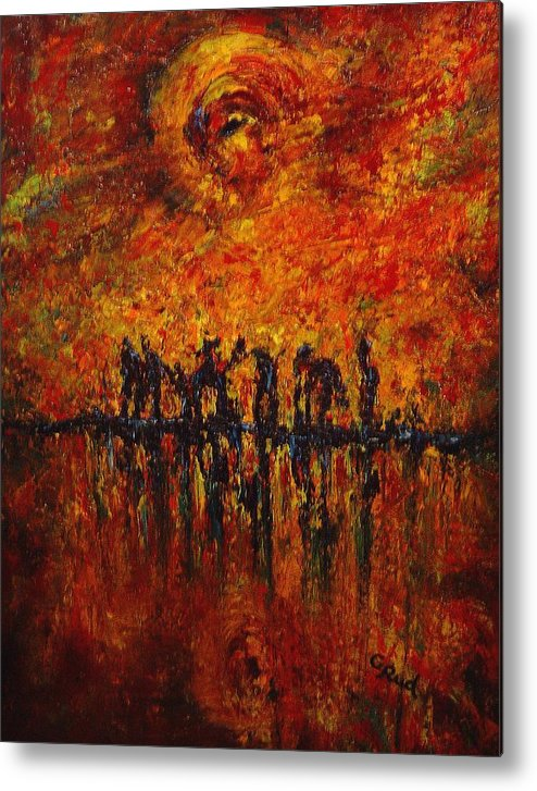 Landscape Metal Print featuring the painting All Of Them by David Grudniski