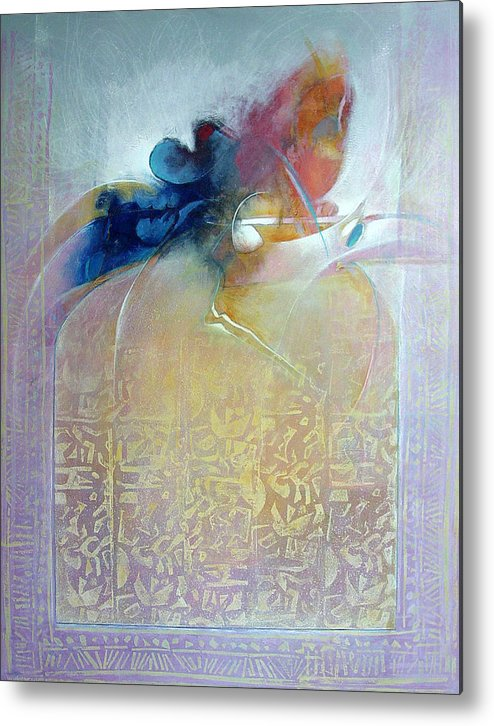 Abstract Metal Print featuring the painting Ancient Sources by Dale Witherow