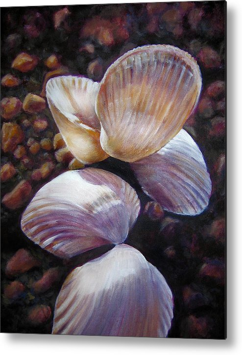 Painting Metal Print featuring the painting Ane's Shells by Fiona Jack