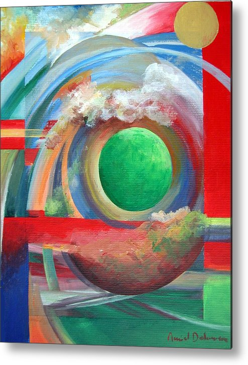 Abstract Metal Print featuring the painting Arc by Muriel Dolemieux