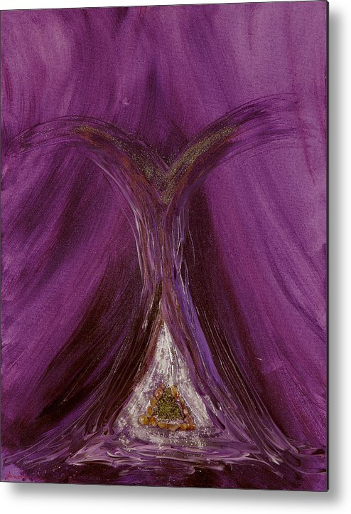 Angels Metal Print featuring the painting Archangel Metatron by Emerald GreenForest