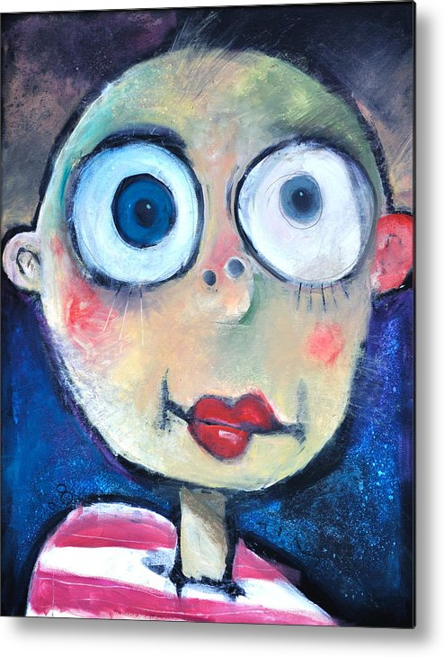 Child Metal Print featuring the painting As A Child by Tim Nyberg