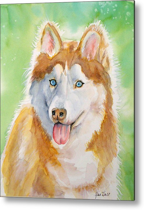 Canine Metal Print featuring the painting Baby Blue by Gina Hall
