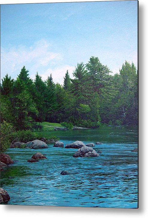 Landscape Metal Print featuring the painting Backyard by Richard Ong