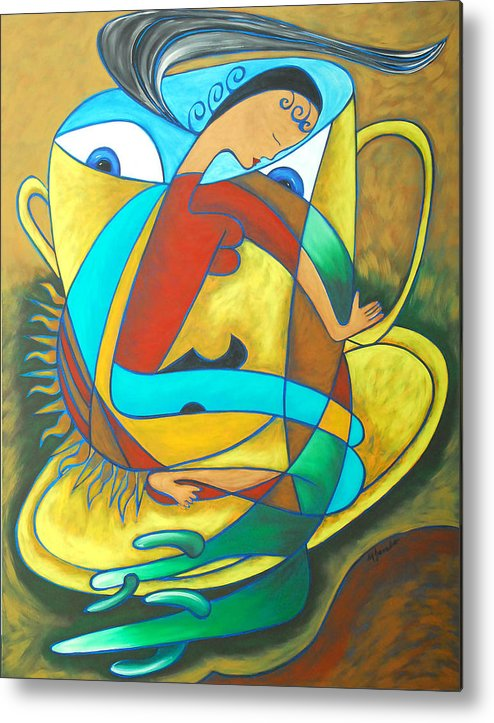 Abstract Expressionism Metal Print featuring the painting Bean Spirit by Marta Giraldo
