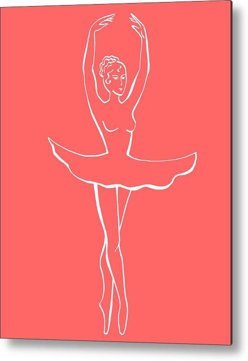 Ballerina Metal Print featuring the painting Beautiful Dance Lines by Irina Sztukowski