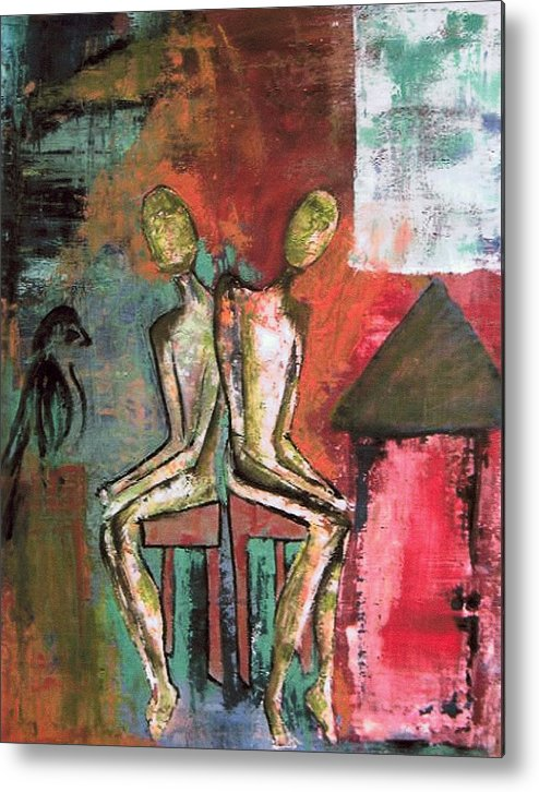 Figure Metal Print featuring the painting Beside Myself by Terrie Yeatts