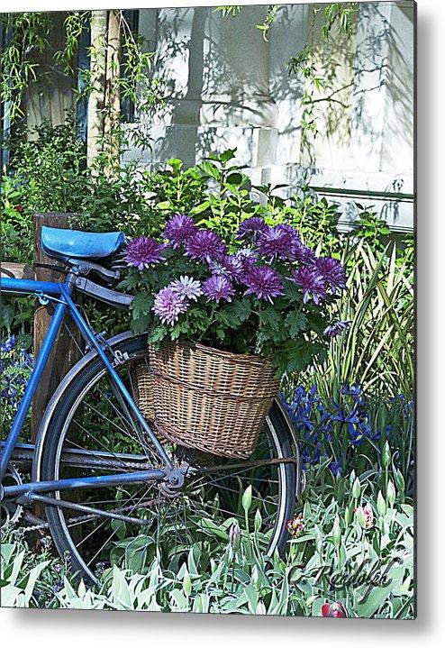 Blue Bike Metal Print featuring the photograph Blue Bike by Cheri Randolph