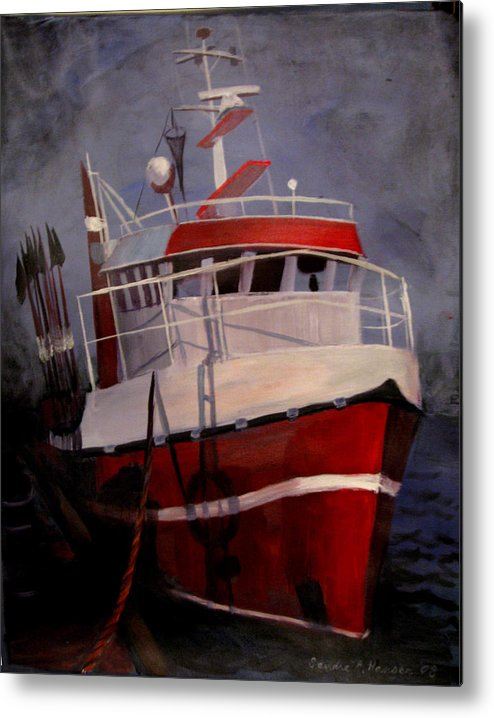 Fishing Metal Print featuring the painting Bold Power by Art Nomad Sandra Hansen