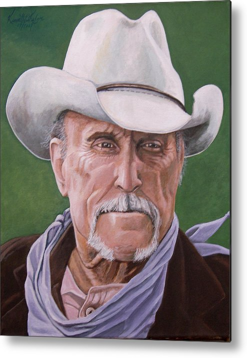Cowboy Metal Print featuring the print Boss Spearman 2 by Kenneth Kelsoe