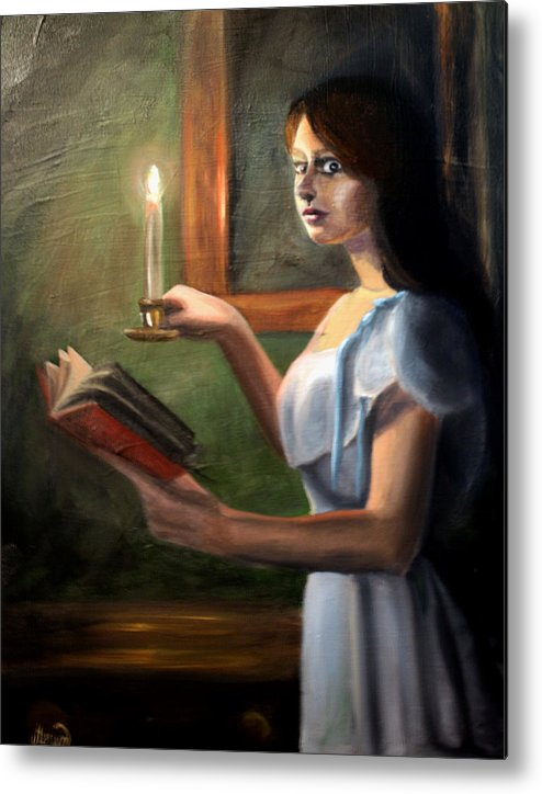 Night Metal Print featuring the painting Bump In The Night by Maryn Crawford