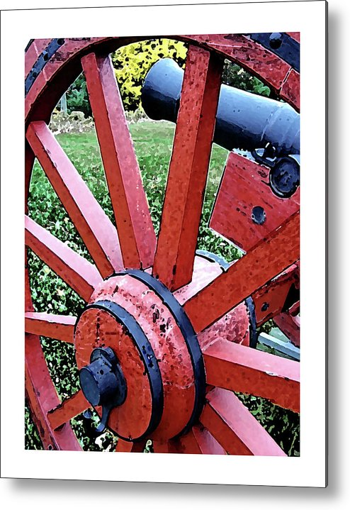 Metal Print featuring the digital art Cannon by Iris Posner