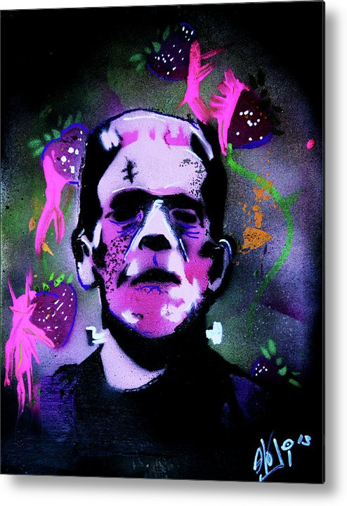Cereal Killers Metal Print featuring the painting Cereal Killers - Frankenberry by eVol i