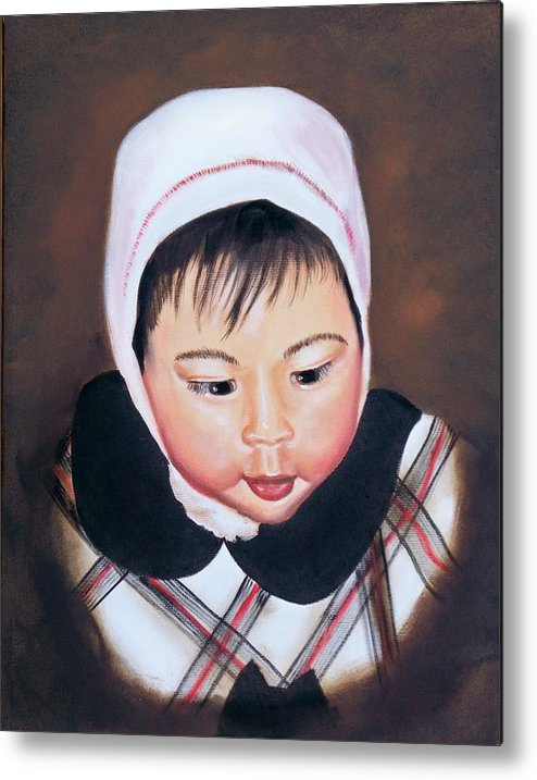 Oil Painting Metal Print featuring the painting China Doll by Joni McPherson