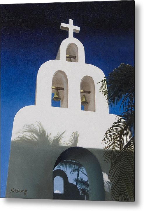 Church Metal Print featuring the painting Church At Playa Del Carmen by Kirk Graham