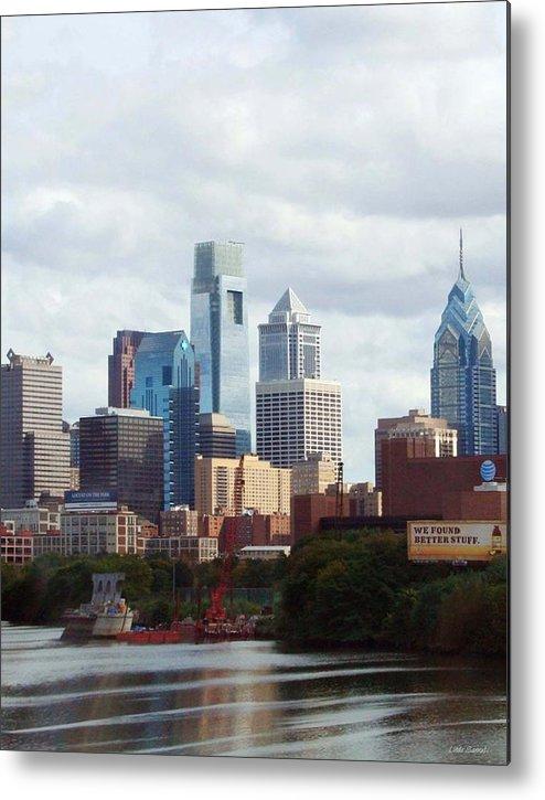 Philadelphia Metal Print featuring the photograph City Of Philadelphia by Linda Sannuti