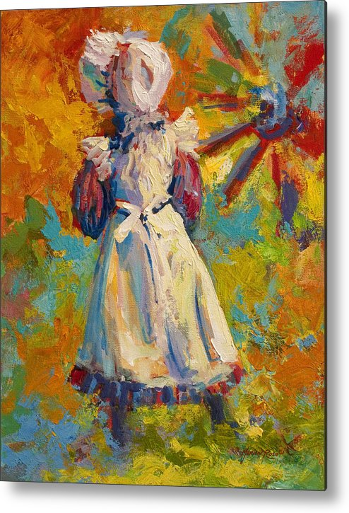 Figure Metal Print featuring the painting Country Girl by Marion Rose