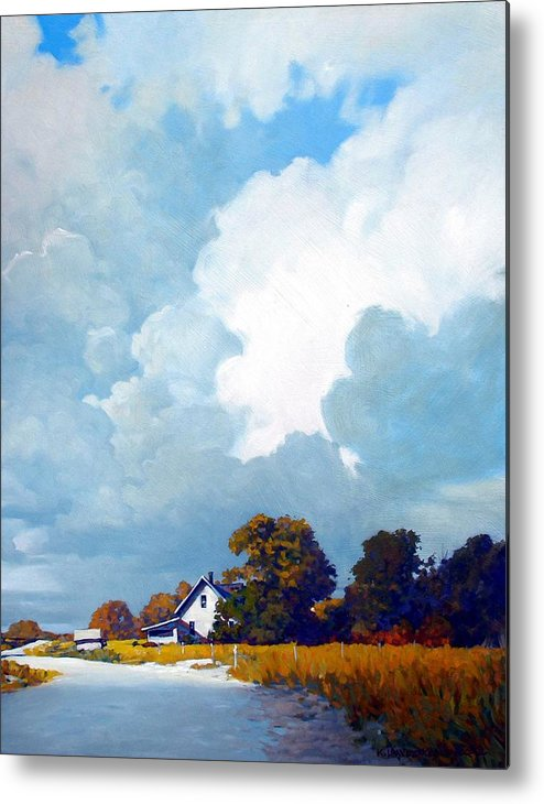 Landscape Metal Print featuring the painting Country Home by Kevin Lawrence Leveque