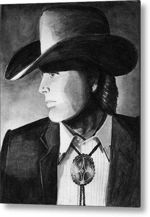 Cowboy Metal Print featuring the painting Cowboy by Sharon Crawford