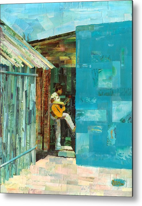 Cozumel Mexico Metal Print featuring the painting Cozumel Mexico by Gary Peterson