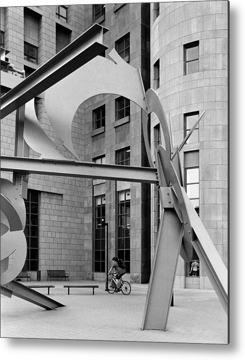 City Metal Print featuring the photograph Cycles by Jim Furrer