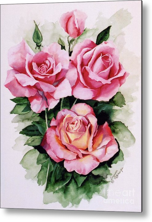 Roses Metal Print featuring the painting Dainty Ladies by Suzanne Schaefer