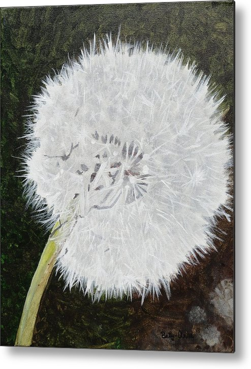 Weed Metal Print featuring the painting Dandelion by Betty-Anne McDonald