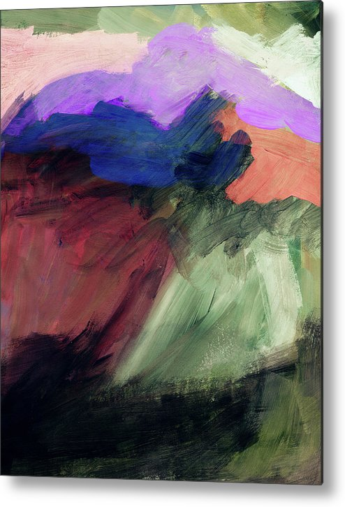 Abstract Painting Metal Print featuring the painting Desert Sunset 1- Art By Linda Woods by Linda Woods