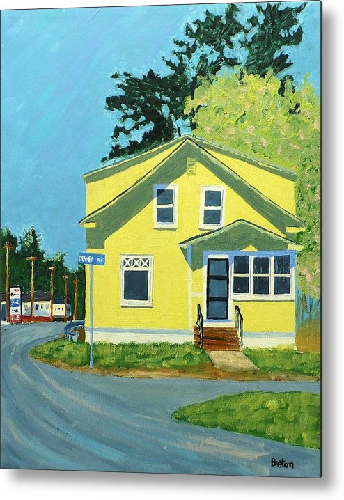 Landscape Metal Print featuring the painting Dewey Ave by Laurie Breton