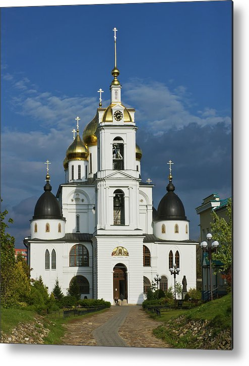 Cathedral Metal Print featuring the photograph Dmitrov. Assumption Cathedral. by Alexander Lobanov