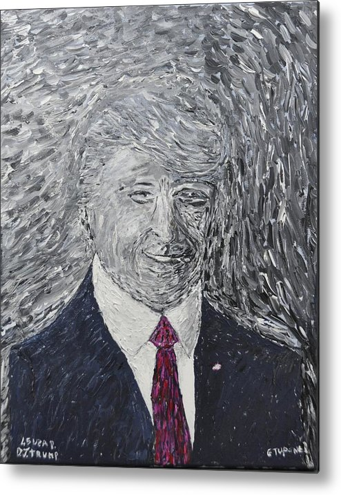 Donald J. Trump Metal Print featuring the painting Donald J. Trump by Gino Tupone