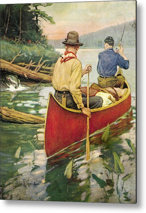 Philip Goodwin Metal Print featuring the painting Early Morning Thrill by JQ Licensing