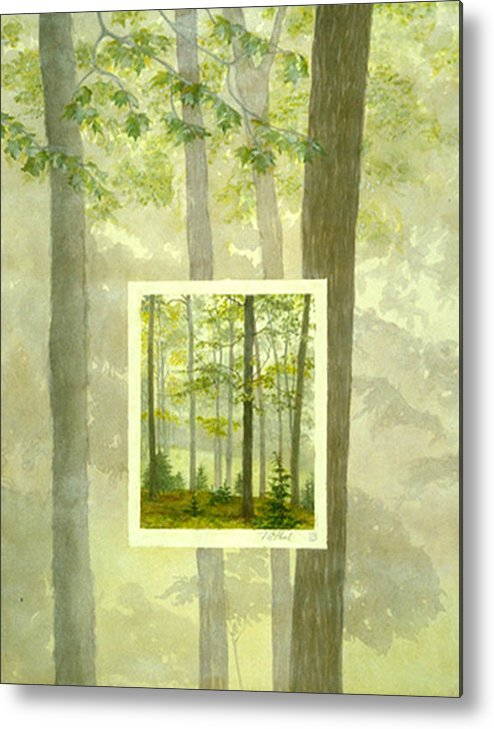 Trees Metal Print featuring the painting Early Spring by Nancy Ethiel