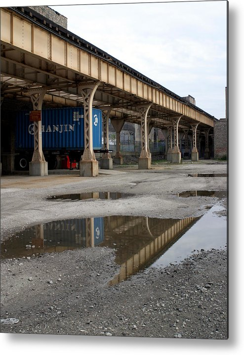 Urban Metal Print featuring the photograph El Reflections by Jenny Gembala