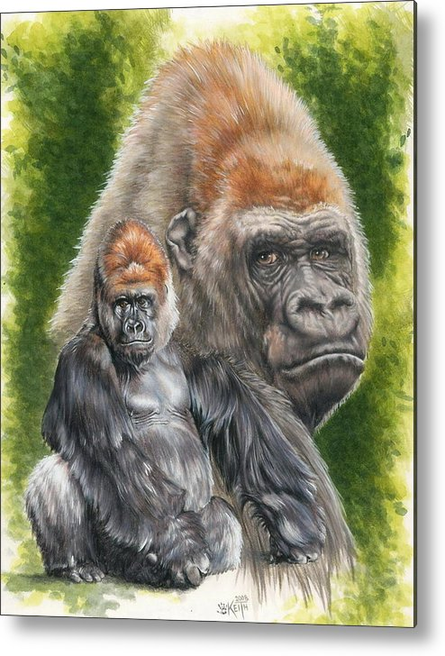 Gorilla Metal Print featuring the mixed media Eloquent by Barbara Keith